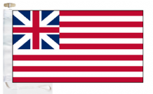 United States of America Grand Union First Navy Ensign 1776 Courtesy Boat Flags (Roped and Toggled)